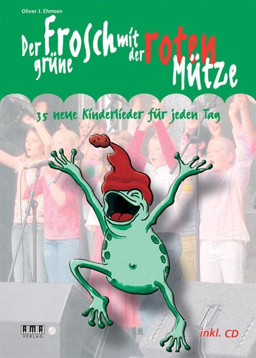 Der grüne Frosch mit der roten Mütze