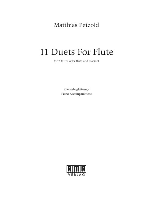 11 Duets for Flute - Piano Accompaniment