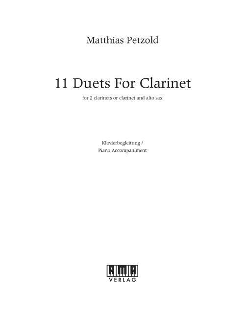 11 Duets for Clarinet – Klavierbegleitung