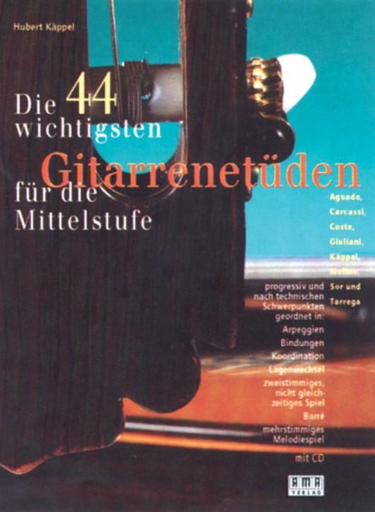 Die 44 wichtigsten Gitarrenetüden für die Mittelstufe